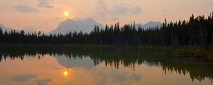 Live Events Stock Media - Sunset over Mountain Lake