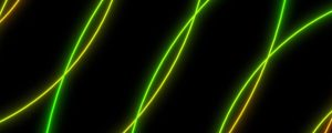 Live Events Stock Media - Intersecting Pulses Green Orange Smooth