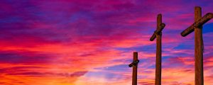 Live Events Stock Media - Crosses and Blazing Sky