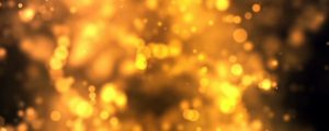 Live Events Stock Media - Glowing Golden Yellow Bokeh Orb Clusters