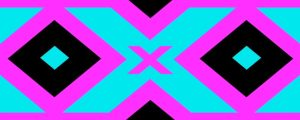 Live Events Stock Media - Blue and pink X patterns
