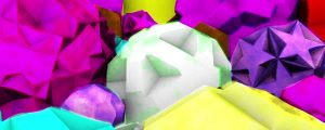 Live Events Stock Media - Colorful Shaking 3D Geometric Shapes