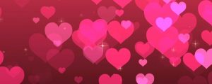 Live Events Stock Media - Pink Particle Hearts With Stars
