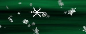 Live Events Stock Media - Snowflakes Aurora Green Loop