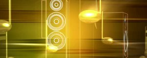 Live Events Stock Media - Golden Yellow 3d Music Notes & Speakers