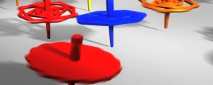 Live Events Stock Media - Colorful Spinning Tops
