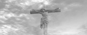 Live Events Stock Media - Greyscale crucifix with cloud effect