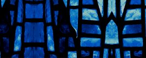 Live Events Stock Media - Stained Glass 2 Mirrored - Blue