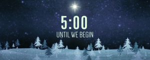 Live Events Stock Media - Christmas Forest Blue Countdown