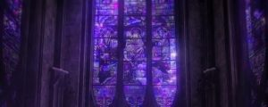 Live Events Stock Media - Towering Stained Glass Windows Purple Close