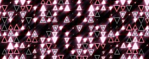 Live Events Stock Media - Pink Triangles