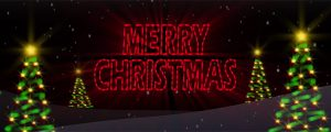 Live Events Stock Media - Neon Merry Christmas