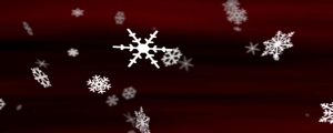 Live Events Stock Media - Snowflakes Fiery Red Loop