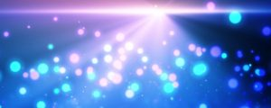 Live Events Stock Media - Bokeh Particles Bouncing on Gradient Ray