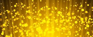Live Events Stock Media - Golden particles & light rays