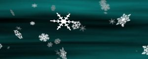 Live Events Stock Media - Snowflakes Teal Loop