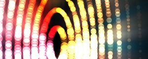 Live Events Stock Media - Colorful Glowing Bokeh Orb Rings on Blac