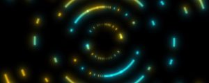 Live Events Stock Media - Spin Art Teal Yellow Fast