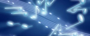 Live Events Stock Media - Glowing Blue & White 3D Music Notes
