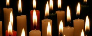 Live Events Stock Media - Red Green and White Candles loop