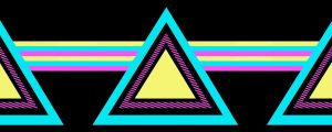 Live Events Stock Media - Retro Colored Triangles & Lines