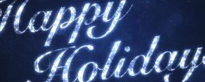 Live Events Stock Media - Happy Holidays on Blue
