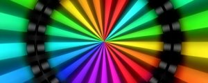 Live Events Stock Media - Tunnel Rainbow Neon Animations