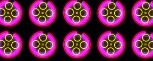 Live Events Stock Media - Neon Burst Wall 1