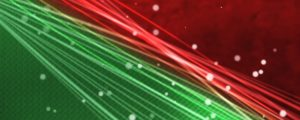 Live Events Stock Media - Red and Green Waves