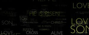 Live Events Stock Media - Easter typography (Black)
