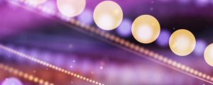 Live Events Stock Media - Glowing Pink, Purple & Orange Bokeh Orb