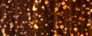 Live Events Stock Media - Golden Orange & Yellow Bokeh Orb Particl