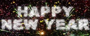 Live Events Stock Media - Happy New Year Fireworks & Confetti Loop
