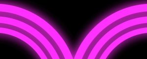 Live Events Stock Media - Glowing Hot Pink Neon Half Circles