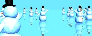 Live Events Stock Media - 3D Snowmen On Ice