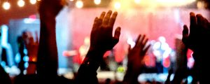 Live Events Stock Media - Raised Hands