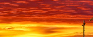 Live Events Stock Media - Three Crosses and Fiery Sky