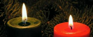 Live Events Stock Media - Red and Green Christmas Candles, loop
