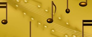 Live Events Stock Media - Golden Brown 3D Music Notes