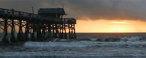 Live Events Stock Media - Florida Pier at Sunrise