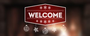 Live Events Stock Media - Christmas Fireplace Welcome Still