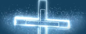 Live Events Stock Media - Glowing White Cross with Particles