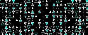 Live Events Stock Media - Mint Triangle Particles