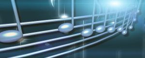 Live Events Stock Media - Rotating Glowing Blue 3D Music Notes