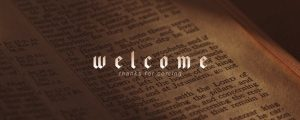 Live Events Stock Media - Bible Welcome