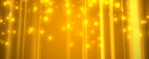 Live Events Stock Media - Golden Yellow Bokeh Rain & Light Rays