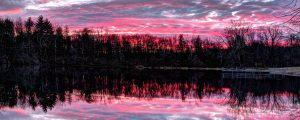 Live Events Stock Media - Dramatic Sunset Pond