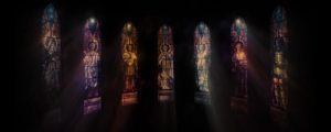 Live Events Stock Media - Saints Stained Glass Warm