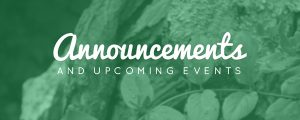 Live Events Stock Media - Natural Serenity Announcements