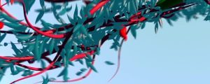 Live Events Stock Media - 3d Red Vines & Blue Leaves